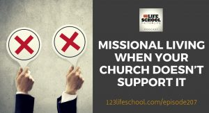 missional living church does not support