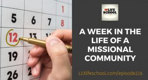 week in life missional community