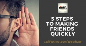 5 steps to making friends quickly