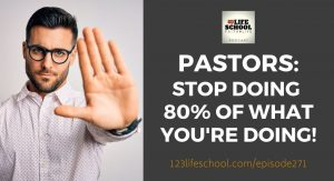pastors stop doing what you're doing