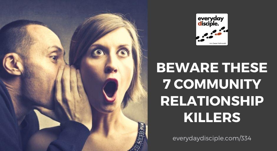 community relationship killers